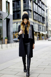 flirting with fashion,blogger,scarf,jewels,pom pom beanie,leather pants,black boots