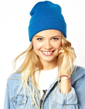 Asos short turn up beanie at asos