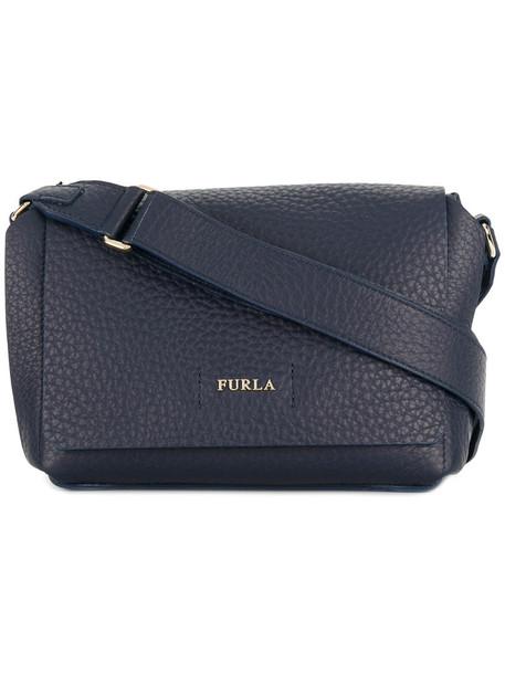 Furla women bag crossbody bag leather blue