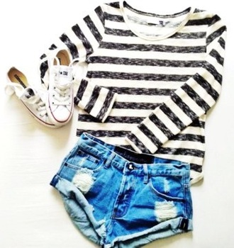 top stiped top long sleeved striped shirt striped top shirt tumblr outfit tumblr top shoes