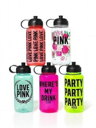 home accessory vspink water bottle pink by victorias secret camping summer holidays fitness