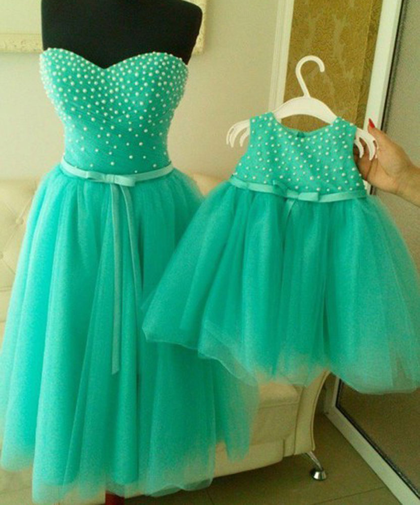 Aliexpress com   Buy Mint green pearls mother and daughter 85c75c4ff97c