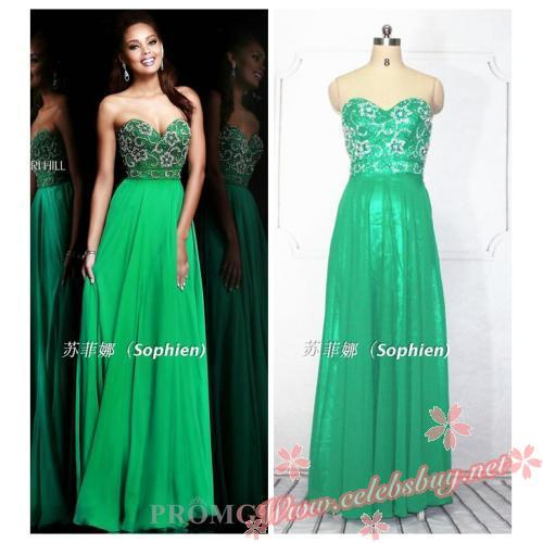 Celebrity green sweetheart evening gown_New arrivals(446)_Celebrity dress Online shopping prom dress - Powered by ECShop | We Heart It