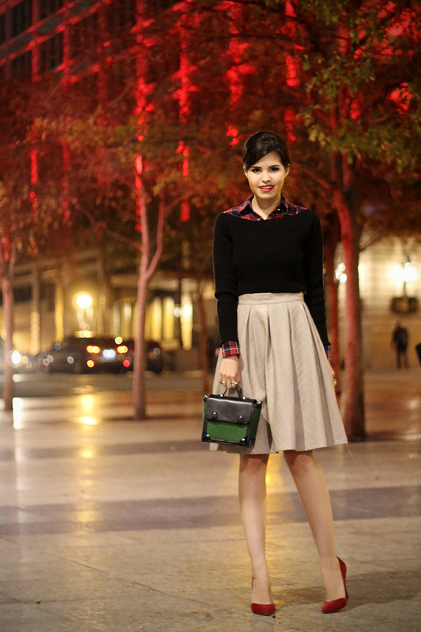 fake leather shirt t-shirt sweater skirt bag shoes jewels dress