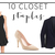 10 Closet Staples - The Fashionable Wife