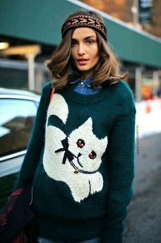 sweater kitten kitty cats crewneck