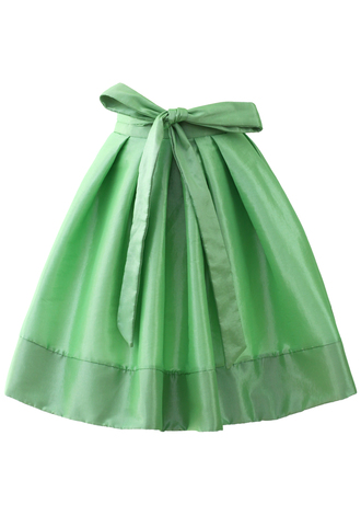 skirt light up a-line neon green