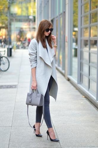 vogue haus blogger shirt jeans coat bag sunglasses jewels