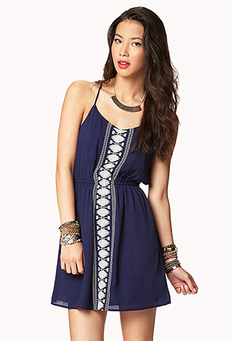 Embroidered Boho Shift Dress | FOREVER21 - 2041719277