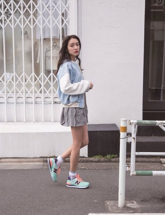 shoes new balance pale sneakers jacket