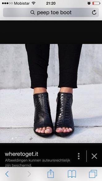 shoes black peep toe