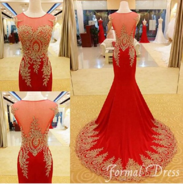 Red mermaid prom dresses tumblr
