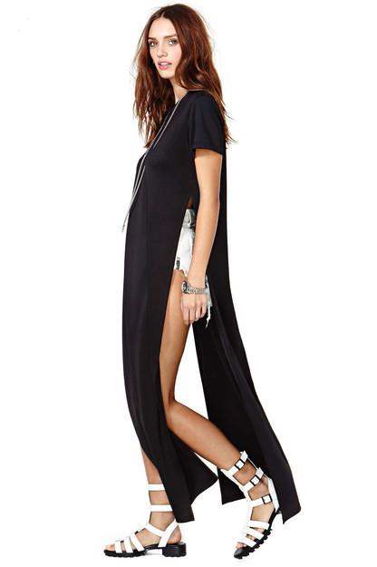 Bellen Brand Temple Top - Black | Shop Clothes at Nasty Gal ($158.00) - Svpply