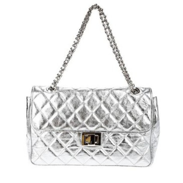 silver bag chanel purse