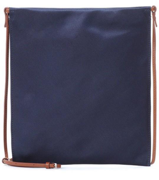 bag shoulder bag pouch satin blue