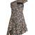 Ricco floral-print one-shoulder silk dress