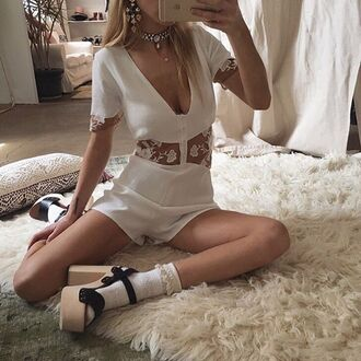 romper white romper boho chic boho chic boho romper chic romper white lace romper lace romper white lace sheer floral lace