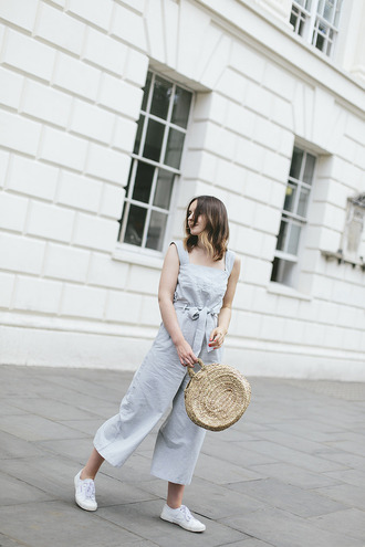 what olivia did... blogger jumpsuit bag shoes jewels