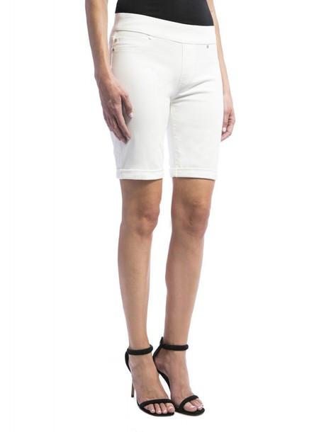 bermuda white bright shorts