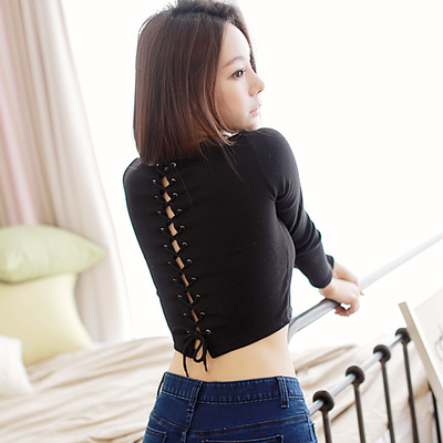 fccc814e73 Lace up back crop top · Korean Fashion Shop · Online Store Powered by  Storenvy