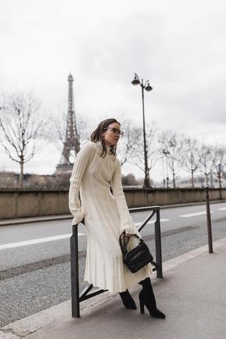 bag chanel gabrielle small hobo bag chanel bag chanel dress white dress midi dress knitted dress long sleeve dress
