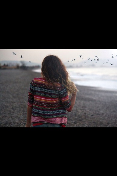 pink cute shirt green sweater cardigan aztec red sweater red blue yellow orange cute sweaters cute shirt beach summer outfits summer top