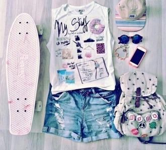 shirt shorts jewelry accessories skateboard snapback backpack iphone