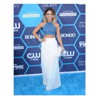 skirt top crop maxi skirt maxi boho style vanessa hudgens halter halter neck coachella celeb music awards blouse red lime sunday blue shirt crop tops