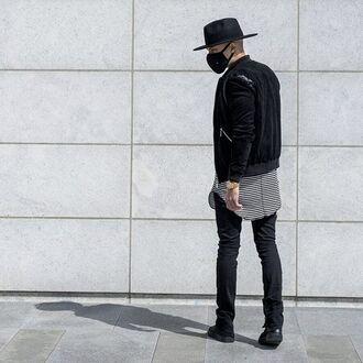 jacket maniére de voir suede bomber jacket black bomber jacket menswear outerwear fashion style trendy kanye west 36683