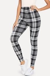 pants,girly,girl,girly wishlist,black,black and white,white,plaid,plaid pants,grid,checkered