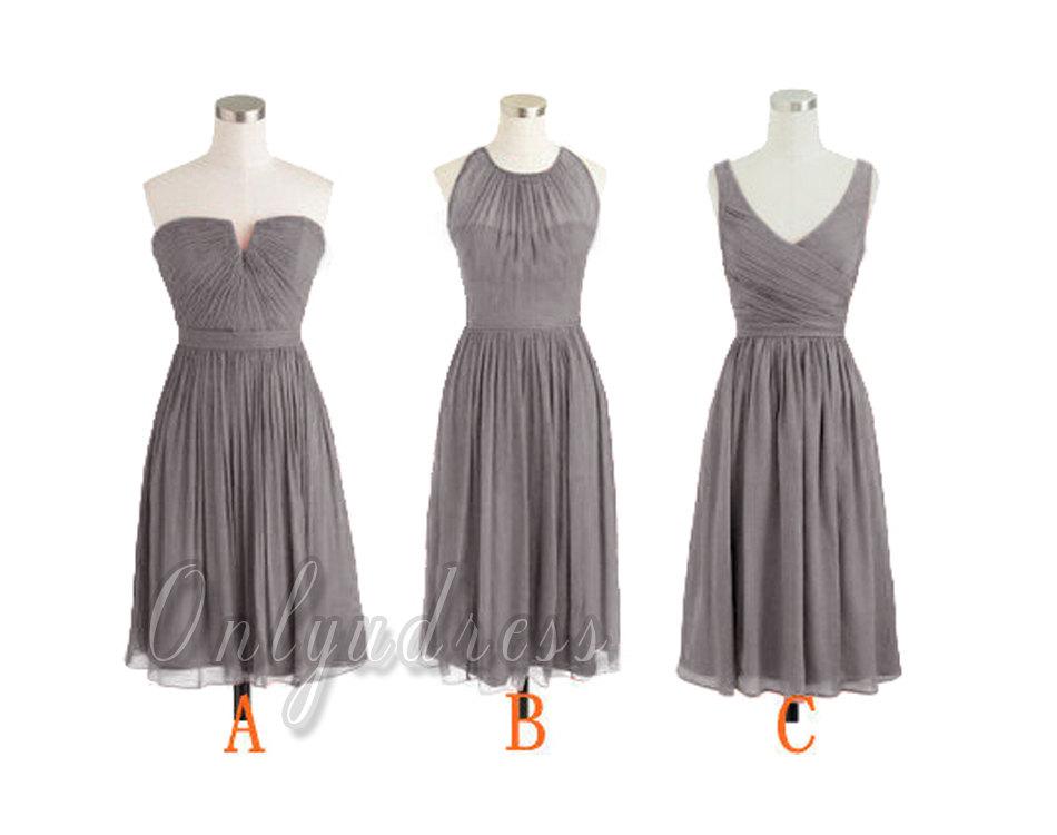 Grey bridesmaid dress, gray bridesmaid dresses, short bridesmaid ...