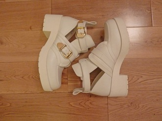 shoes boots grunge balenciaga inspired cute chunky boots spring outfits summer gold buckle shoes