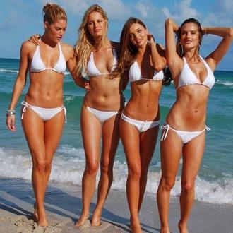 swimwear white bikini