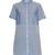 Short-sleeved cotton shirtdress