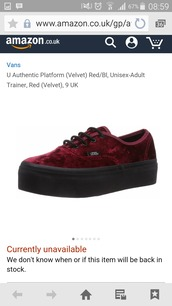 shoes,velvet shoes,platform shoes,creepers,red,burgundy shoes,vans
