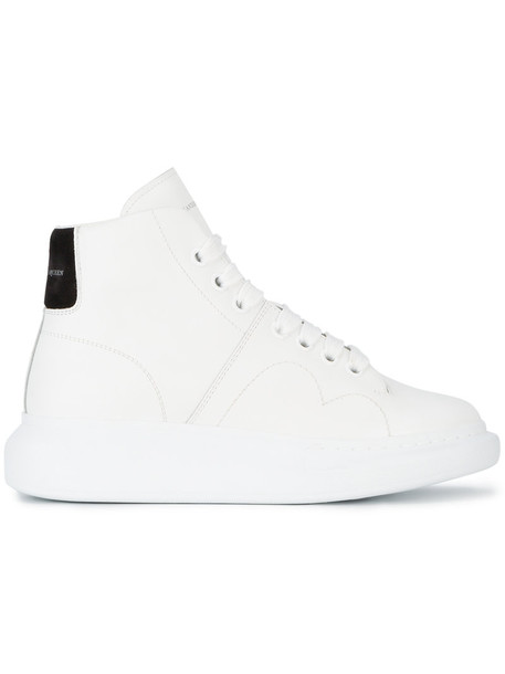 Alexander Mcqueen women sneakers platform sneakers leather white shoes