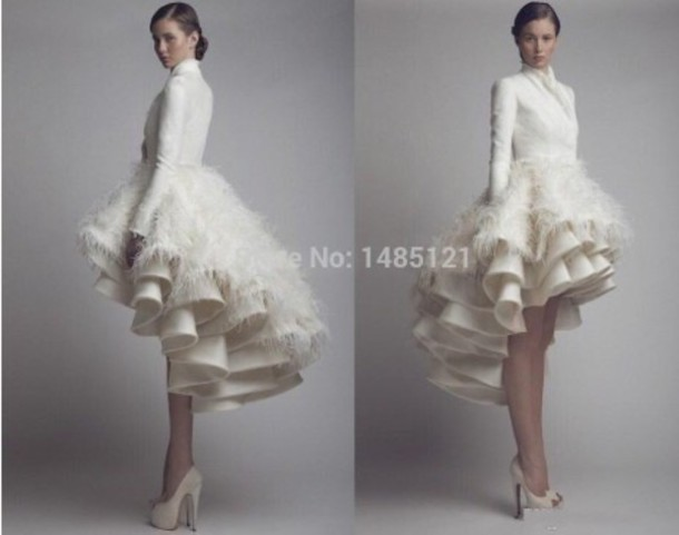 dress short wedding dress white dress short dress