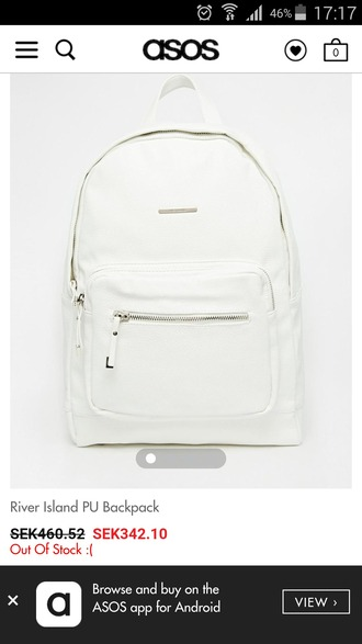 bag white silver zip
