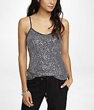 SEQUIN V-NECK CAMI | Express