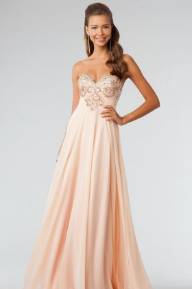 Strapless Floor Length Backless Evening Dress Prom Dress