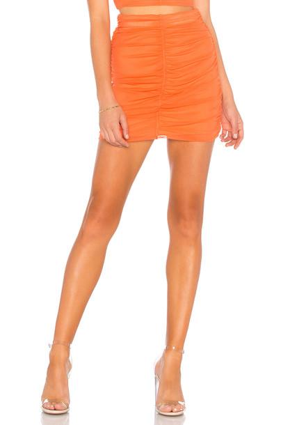 NBD Sydel Mini Skirt in orange