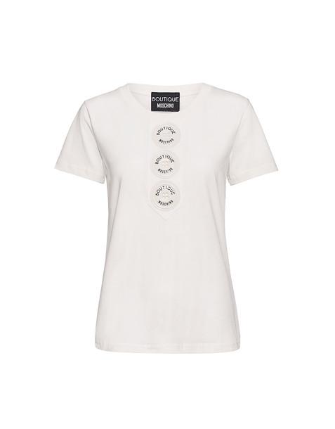 BOUTIQUE MOSCHINO t-shirt shirt t-shirt white top