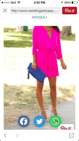 dress hot pink dress mango see through dress
