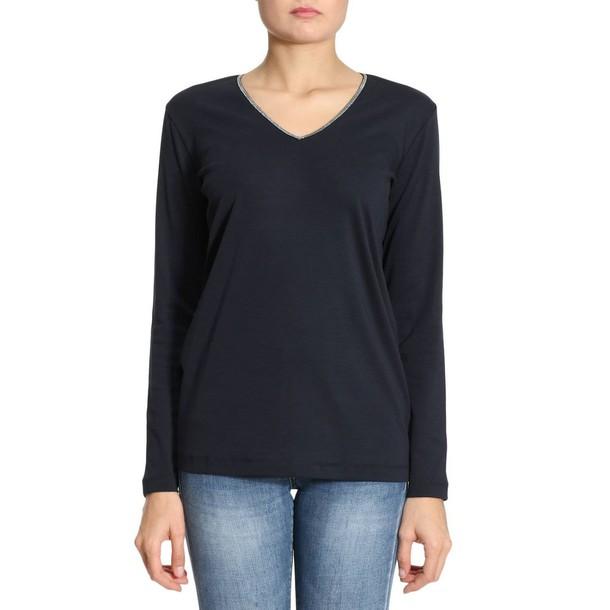 Fabiana Filippi t-shirt shirt t-shirt women blue top
