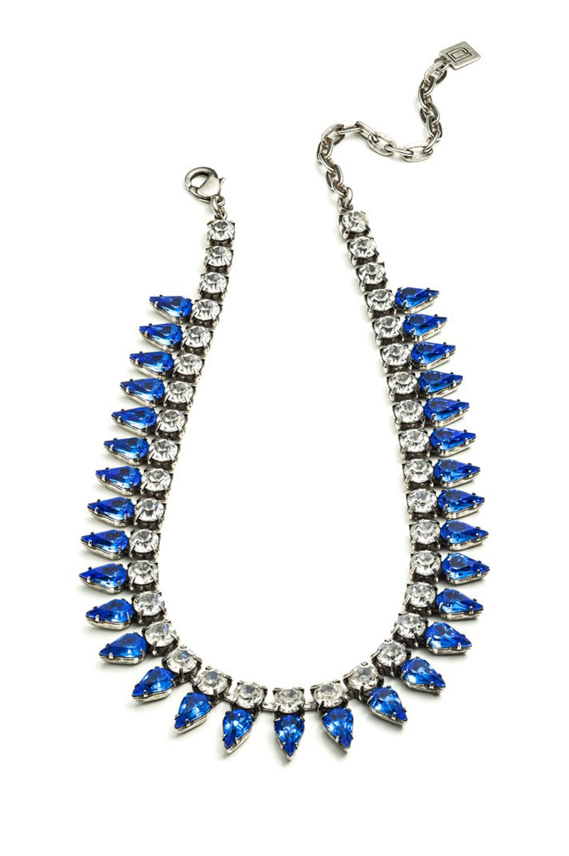 Dannijo aspen necklace in blue