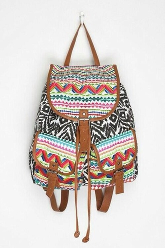 bag bags and purses perfecto colorful colour block perfection sweet cute maxi vanessa simmons neon aztec vibrant cloth bikini gorgeous body  cotton stitch yellow woven backpack backpack leather zebra vintage