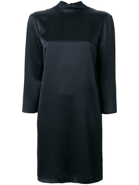 Vince dress long women black silk