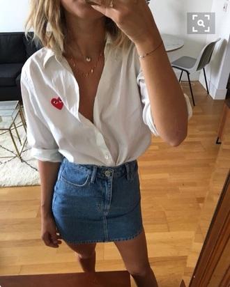 swag shirt white