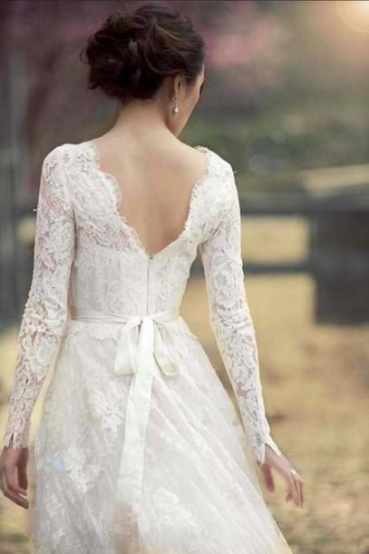 Dress Lace Wedding Vintage Clothes Dresses Cute Hipster