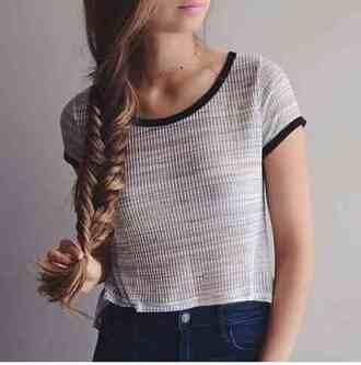 shirt top stripes black brown white pink colorful short t-shirt tank top blouse